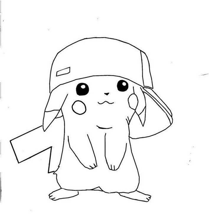 coloring page pikachu hd  pikachu coloring page pokemon