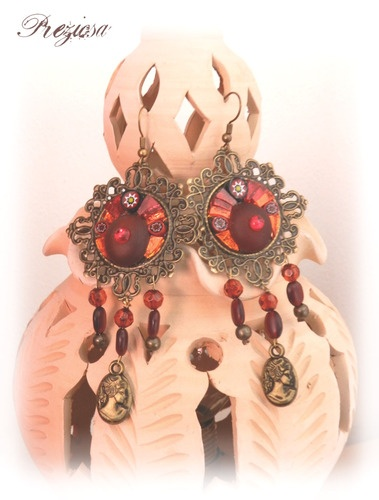 Queen Victoria ◘ Vintage Look mosaic Earrings