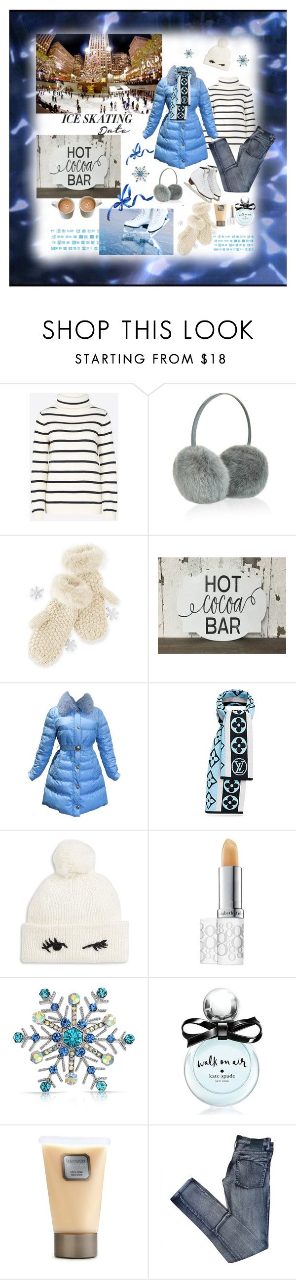 """Ice skating"" by deborah-518 ❤ liked on Polyvore featuring Armor-Lux, Accessorize, Mark & Graham, Versace, Kate Spade, Elizabeth Arden, Bling Jewelry, Laura Mercier and Cheap Monday"