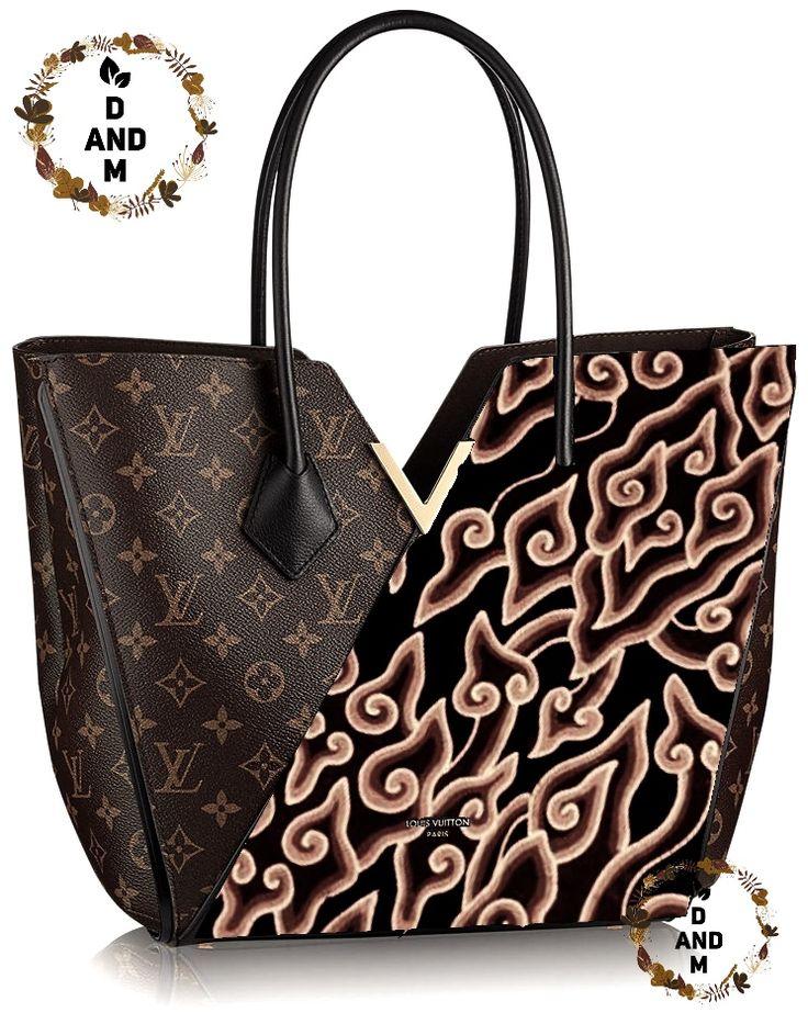 LV bag design with Batik Indonesia