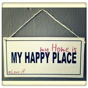 Happy Place Sign. Home