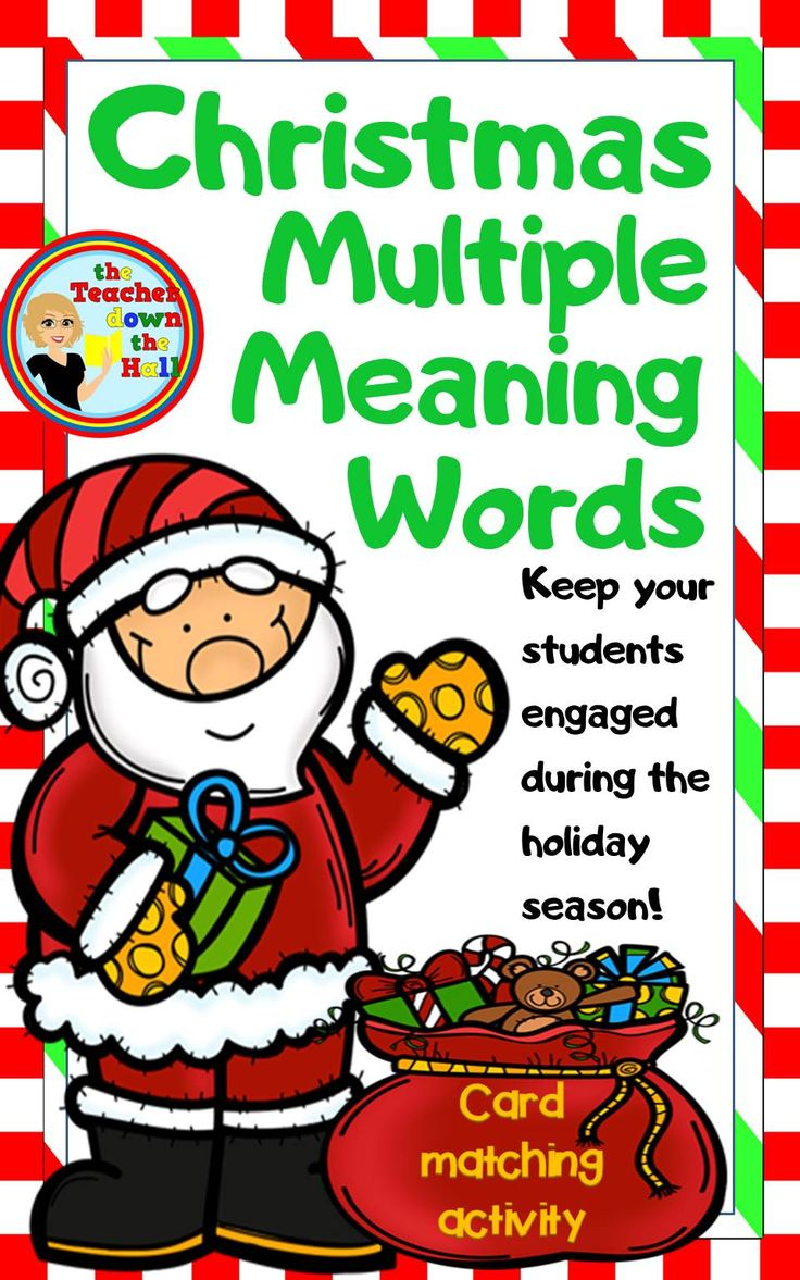 Christmas Multiple Meaning Words Card Matching Activity