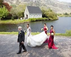 'Get me to the church on time' at Gougane Barra Hotel it's just a short walk to the oratory #bride #bridesmaids
