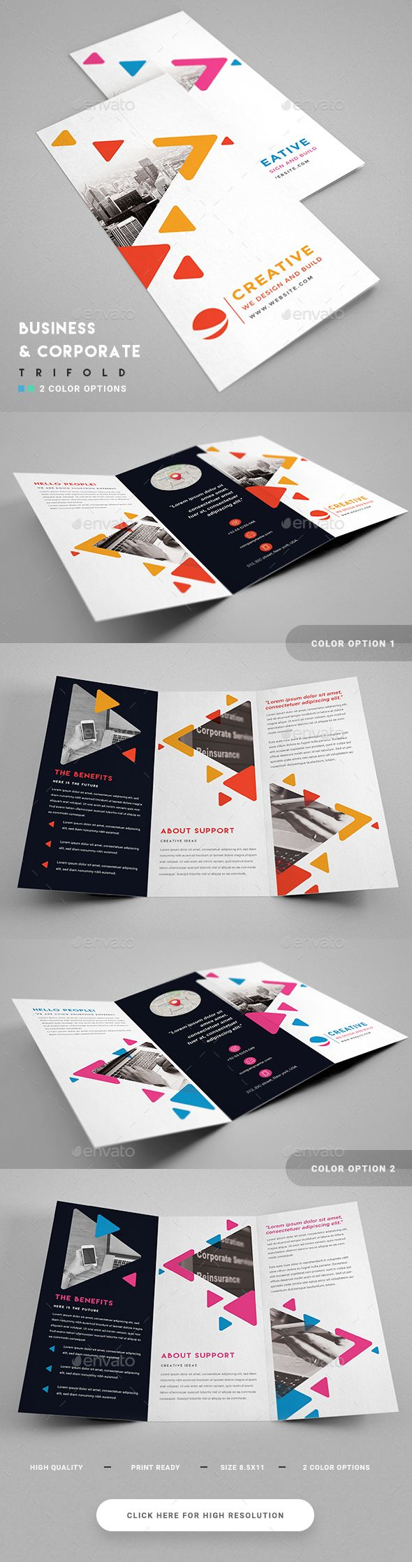 Creative Corporate Trifold — Photoshop PSD #official #agency • Download ➝ https://graphicriver.net/item/creative-corporate-trifold/19127559?ref=pxcr