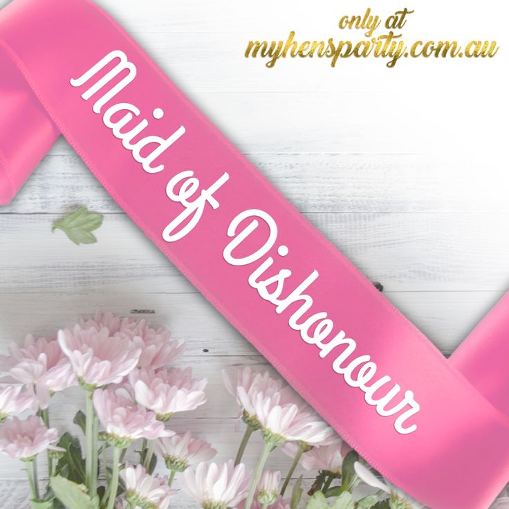 Maid of Dishonour PrintedSash Our stylishMaid of Dishonour Printed Sashis the latest trend in wedding must haves! Made in-house at the My Hens Party Shop in Sydney we offer you th...