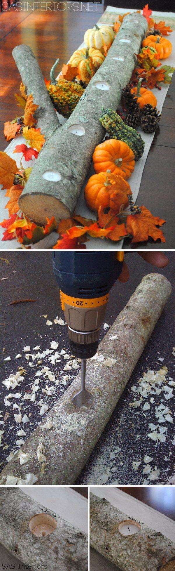best 25 log candle holders ideas on pinterest birch tree decor