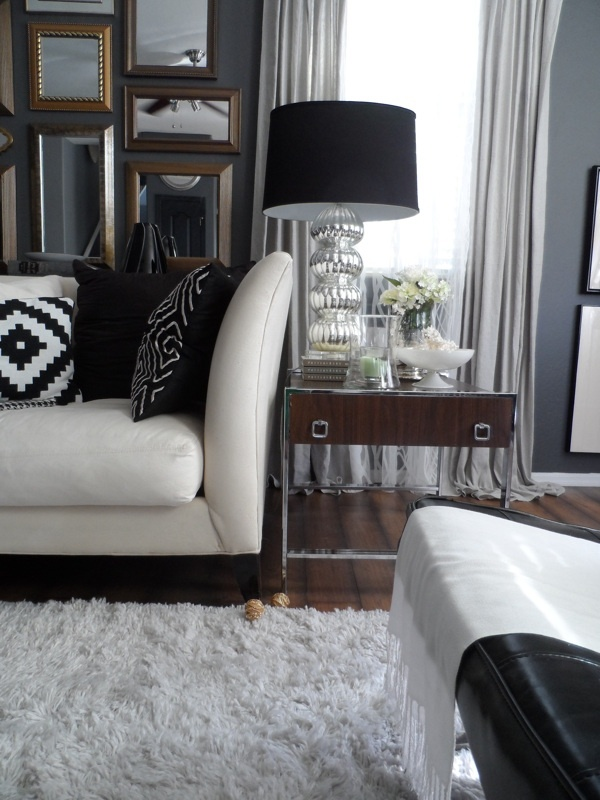 Top 25 Ideas About Black White Houses On Pinterest Living Rooms Chic And Stripes