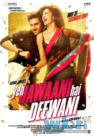 Yeh Jawani Hai Deewani / Ye Jawani Hai Diwani 2013 New Hindi Movie First Look Poster and Release Date - Ranbir Kapoor, Deepika Padukone, Kalki Koechlin, Aditya Roy Kapur, Evelyn Sharma. Opening May 31, 2013.