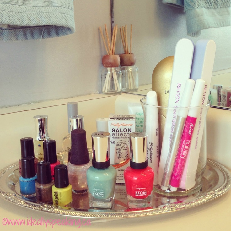 Nail Art Storage Ideas: Using A Dollar Store Tray As A Nail Art & Manicure Station