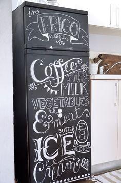chalkboard old style frigo - Recherche Google