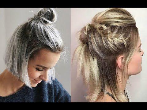 Peinados Faciles Para Cabello Corto Para Cualquier Ocasion Casuales Formales Para Fiestas Youtube Peinadospelo Dyed Hair Pastel Blonde Dye Pastel Hair