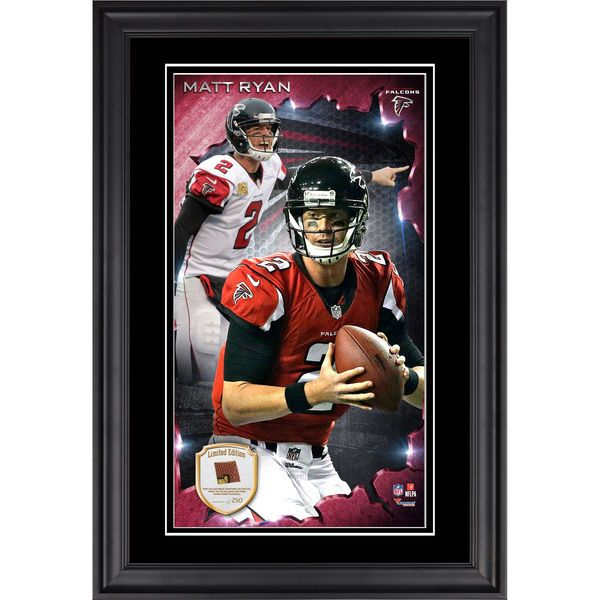 Matt Ryan Atlanta Falcons Fanatics Authentic Framed 10'' x 18'' Photograph with Piece of Game-Used Football - Limited Edition of 250 - $99.99
