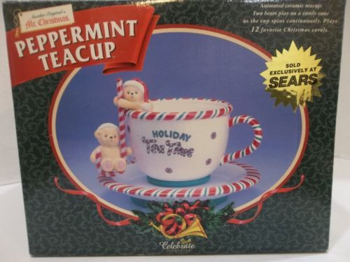 Another-Original-Mr-Christmas-Moving-Peppermint-Tea-Cup-12-Carol-Music-Box
