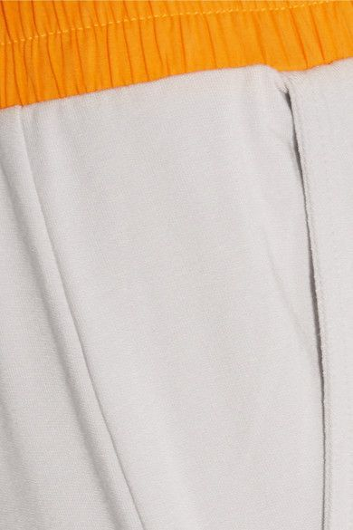 Light-gray and marigold French terry Pull on 95% viscose, 5% elastane Machine wash Designer color: Microchip