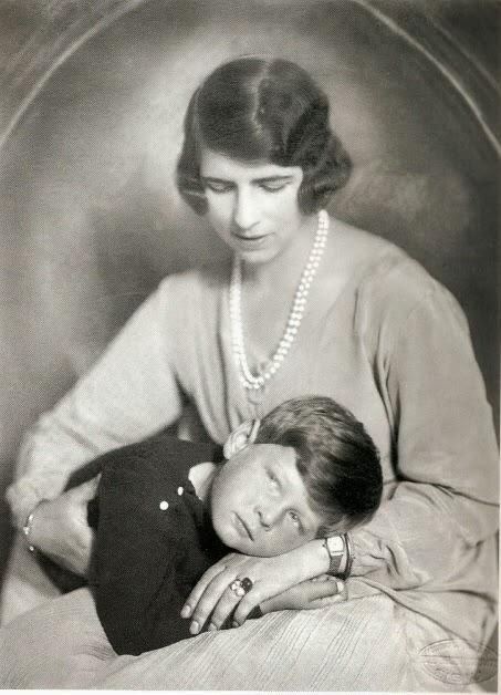 Future King Michael I of Romania with his mother Princess Helen of Greece and Denmark ca. 1927 [453x628]