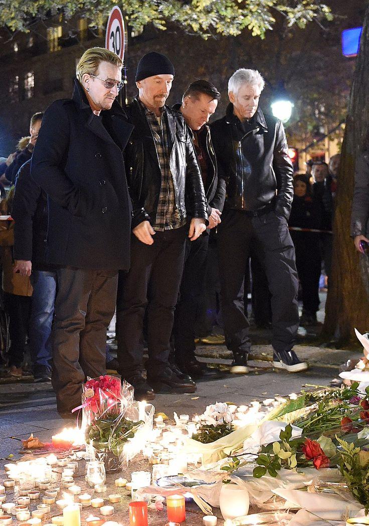 #U2 rend hommage aux victimes du #Bataclan