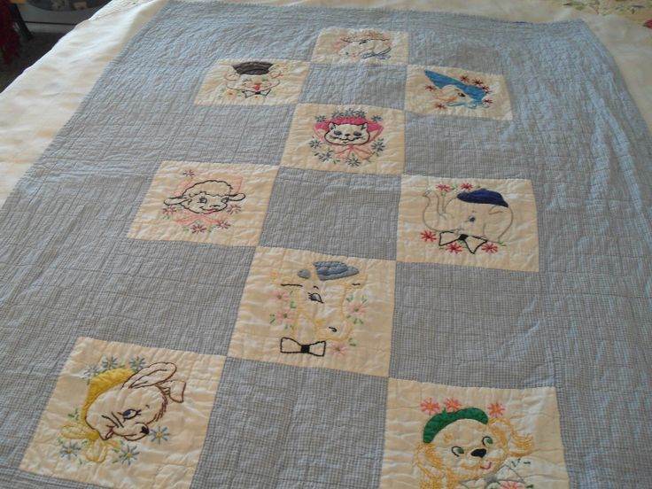 41 best Vintage baby quilts images on Pinterest | Appliques, Baby ... : vintage baby quilt patterns - Adamdwight.com