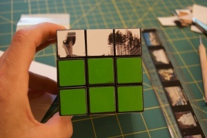 diy rubics cube All you need are 6 matte finish photographs and some adhesive. I used a Xyron machine with repositionable adhesive to make it easy. Matte or lustre finish images are important since glossy shows every fingerprint when the recipient plays with the cube. 1. Measure the dimensions needed to cover an individual square (these were slightly larger than 3/4 inches square).