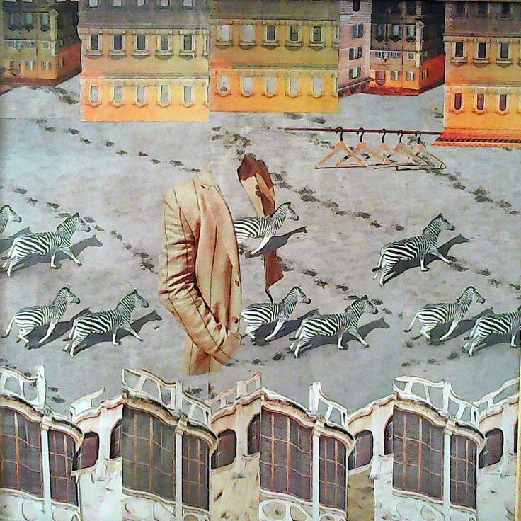 Dovolená koláž 50 x 50 cm by Jana Černochová