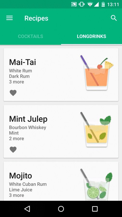Cockailer has been updated and now includes 8 new longdrinks! Go check it out…