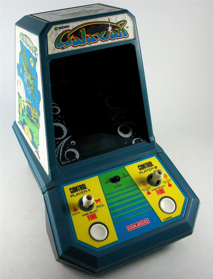 Coleco galaxian retro handheld games pinterest