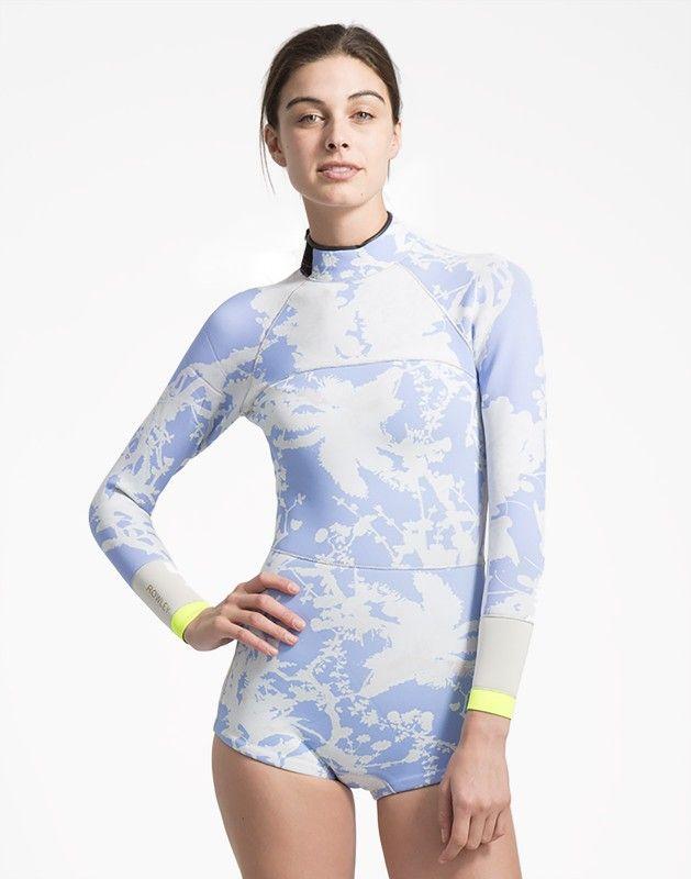 Cynthia Rowley - Blue Horizon Print Wetsuit | Surf & Swim