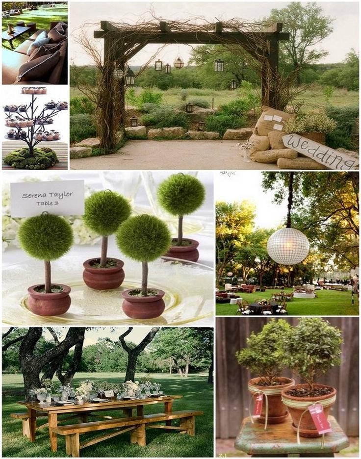 Nice Backyard Weddings : great ideas!  Outdoor Wedding Theme  Pinterest