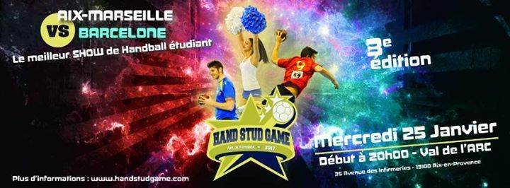 Rendez-vous ce mercredi 25 janvier au Complexe sportif Val de l'Arc pour le HAND STUD GAME 2017, le plus grand show de handball étudiant ! #MPSPORT2017 #fashion #style #stylish #love #me #cute #photooftheday #nails #hair #beauty #beautiful #design #model #dress #shoes #heels #styles #outfit #purse #jewelry #shopping #glam #cheerfriends #bestfriends #cheer #friends #indianapolis #cheerleader #allstarcheer #cheercomp  #sale #shop #onlineshopping #dance #cheers #cheerislife #beautyproducts…