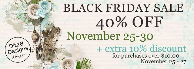 DitaB Designs: Black Friday sale 40% OFF from November 25 to 30E...