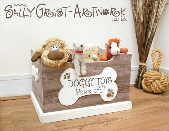 Hey, I found this really awesome Etsy listing at https://www.etsy.com/listing/199896092/large-doggy-toy-box-paws-off