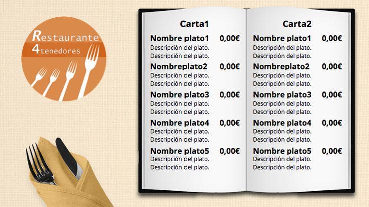 Plantilla anuncio Menú Restaurante