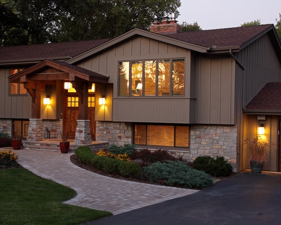 Exterior split level facelift design pictures remodel decor and ideas exquisite exteriors - Exterior home remodeling ...