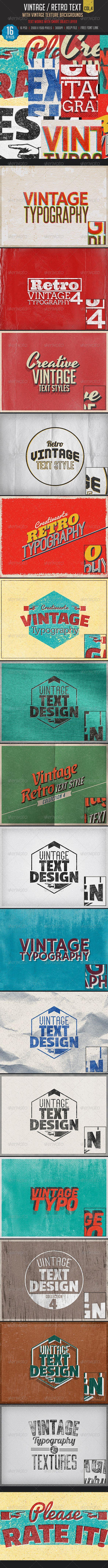 Vintage/Retro Text Col 4