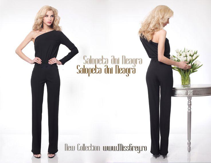Always choose elegance. Wear this elegant black jumpsuit, perfect for any occasion or special event: https://missgrey.ro/ro/produse-noi/salopeta-ani-neagra/301?utm_campaign=noua_colectie_mar2&utm_medium=anineagra_postare&utm_source=pinterest_produs