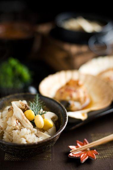 Japanese Matsutake mushroom rice