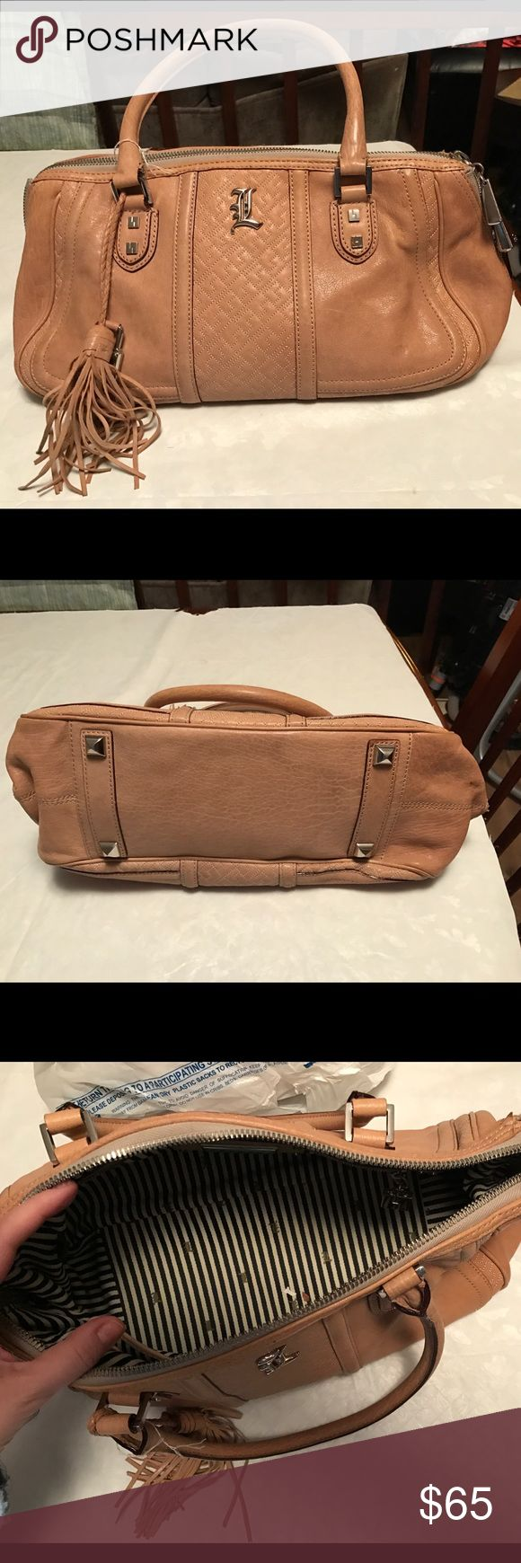 LAMB bag Great cream color. Nice leather. Silver hardware. Some normal signs of wear. In great shape. Open to offers lamb Bags Satchels