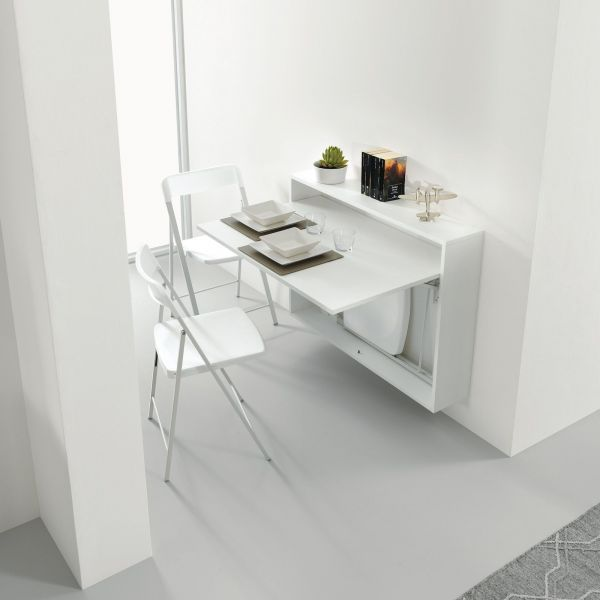 Scrivania Salvaspazio Ikea.Dettagli Su Bureau Tavolo Estraibile Scrivania Salvaspazio