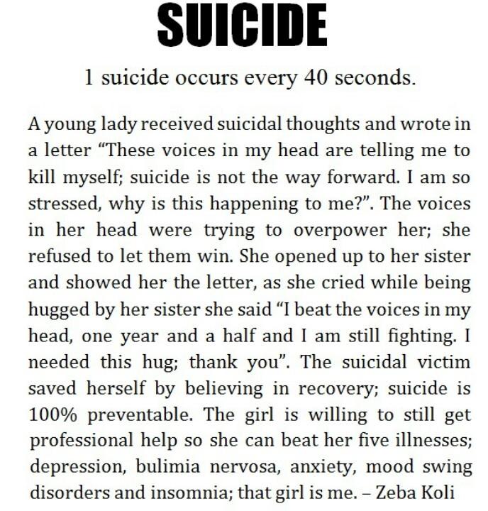 Suicidal ideation
