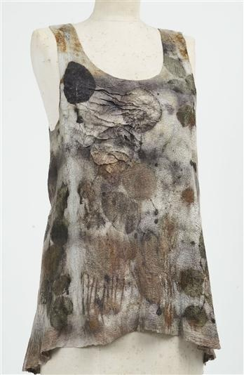 Raw Edge Textiles (Pam Hovel) - eco-dyed silk and wool nuno-felted