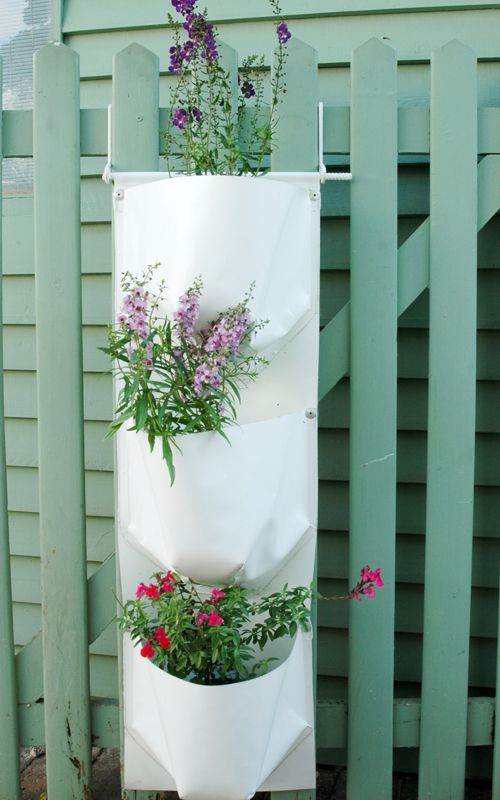 Vertical Gardens plant bags are so easy to install on any wall, fence or gate. #verticalgardens #greenwall #gardens #green