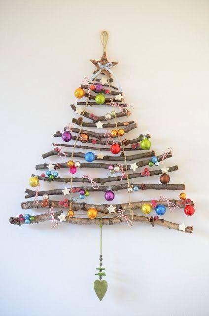 Kerstboom van takjes