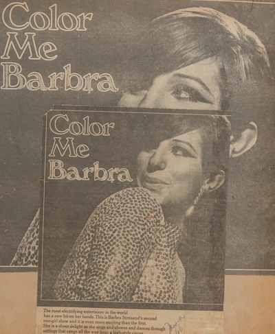 Barbara #Streisand TV special advertisement wearing #CINER #earrings, CBS - 1966.