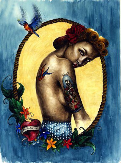 """""""BLUE""""  Watercolor on Paper - 60x80 - 2013 - Angela Di Folco"""