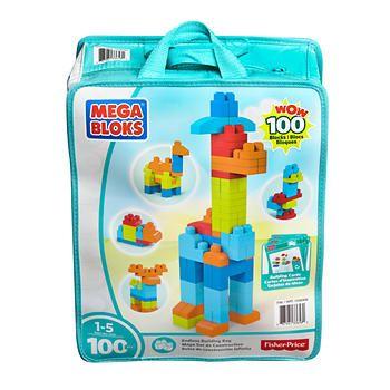 Mega Bloks 100-piece Set with Storage Bag
