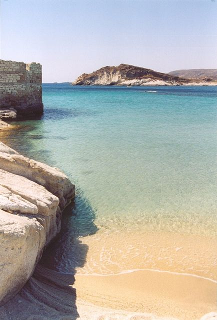 PRASSA | Kimolos , Greece. We love the idea of doing yoga on the beach here, awhhhhh we can already feel the sun <3