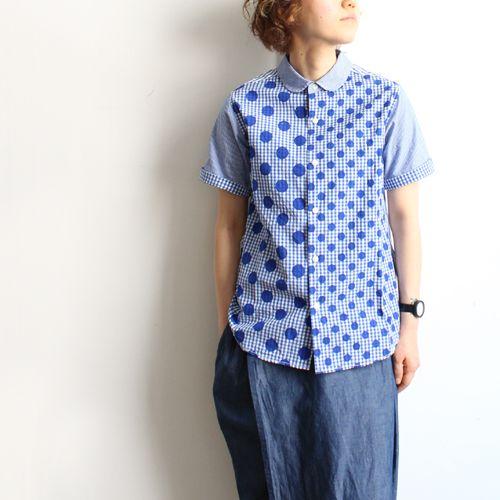 快晴堂 : クレイジー×水玉・半袖シャツ