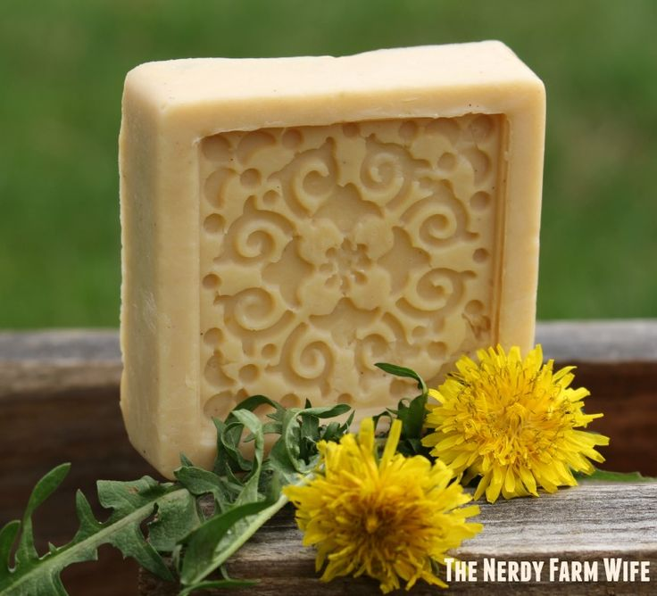 Handmade Dandelion Soap Hot Process Recipe
