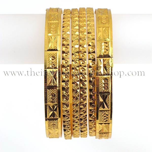 gold plated indian bangles