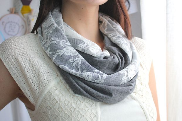 Picture of How to make an infinity scarf ... This is very chic the maker has shown a lot of creativity in this :)