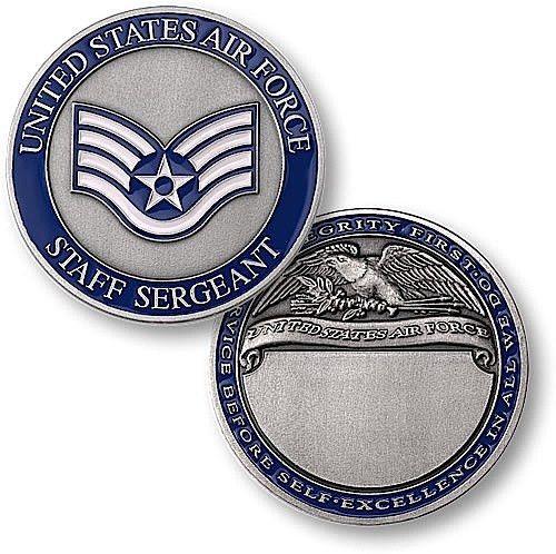 U.S. Air Force Staff Sergeant Engravable Rank Coin